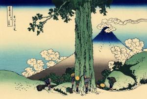 Перевал Мисимагоэ в провинции Косю. Кацусика Хокусай, 1830