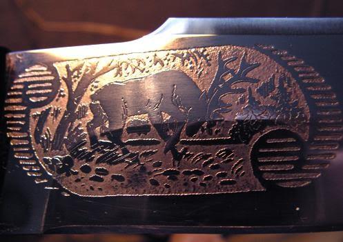 Японская гравюра на металле Кот