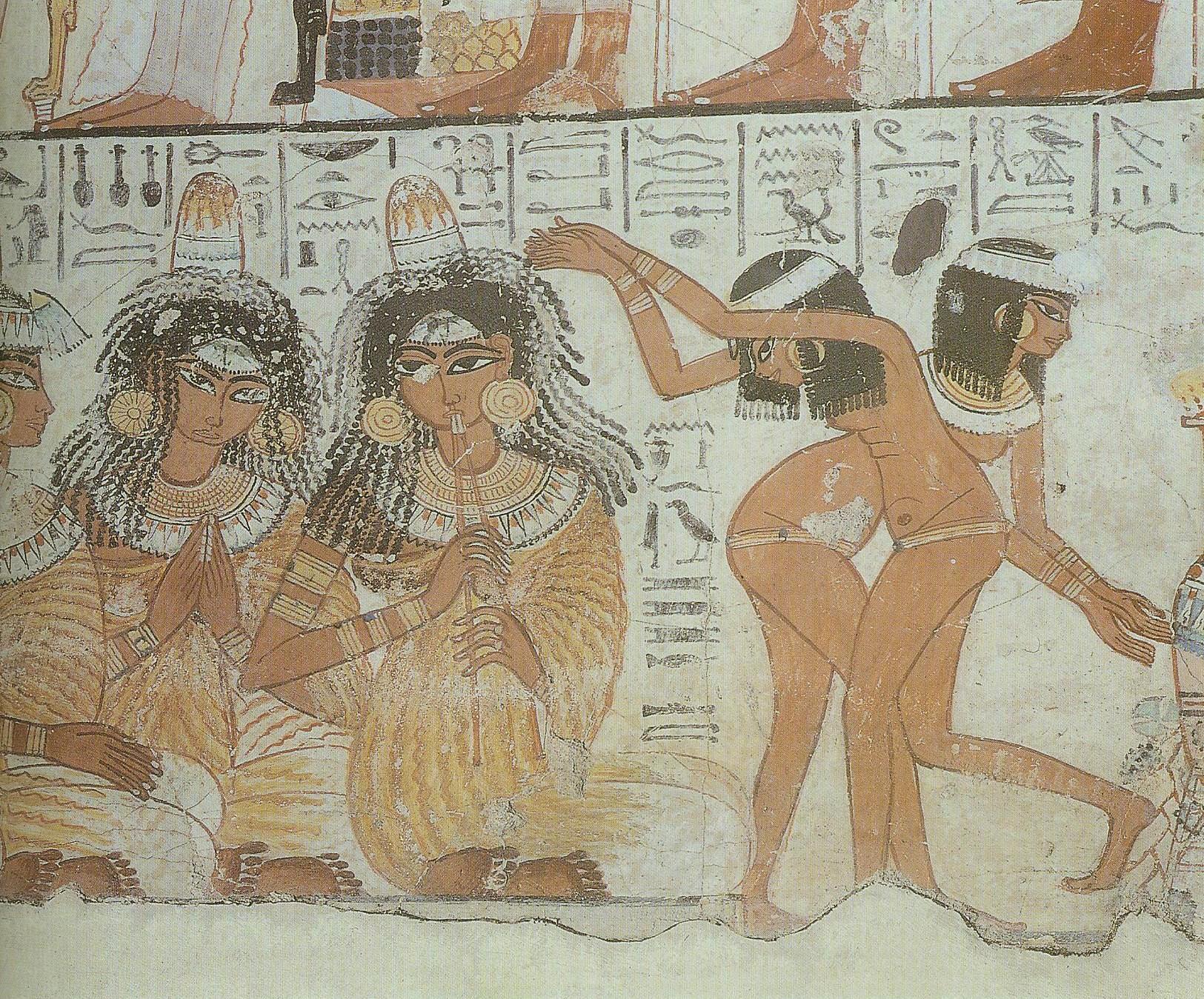 69. Из настенной живописи гробницы Nebamun, богатого бухгалтера в Храме Амона в Фивах около 1350BC.Британский музей, Лондон.