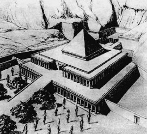 Храм Ментухотепа I в Дейр-эль-Бахри