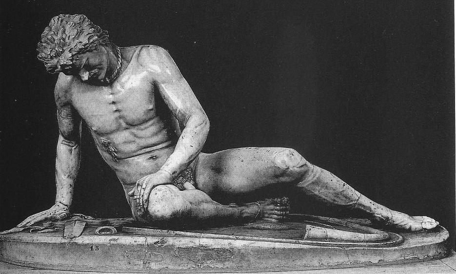 Умирающий галл. Конец 3 в. до н. э. Мраморная римская копия с утраченного оригинала. Рим. Капитолийский музей.