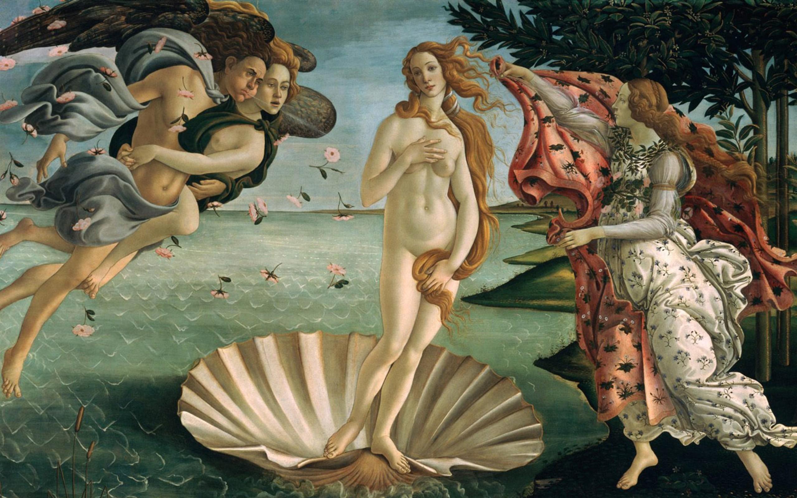 Sandro Botticelli. Das Gemälde Die Geburt Der Venus