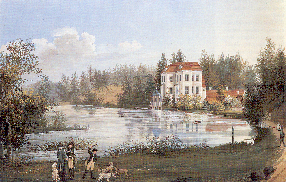 Nagel, Johann Friedrich - Jagdschloss Grunewald von Nordwesten