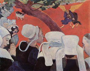 Поль Гоген - Видение после проповеди или Борьба Иакова с ангелом (1888)