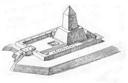 Солнечный храм Ниуссерра в Абидосе (реконструкция Борхардта)