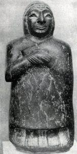 Статуэтка из Ура. Около 2500 г. до н. э. Лондон. Британский музей.
