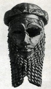 Так называемая голова Саргона Древнего из Ниневии. Медь. 23 в. до н. э. Багдад. Иракский музей.