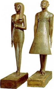 Статуэтки жреца Аменхотепа и жрицы Раннаи