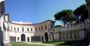 Виньола, первый двор виллы Джулия в Риме