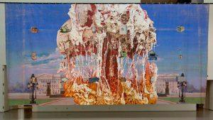 Бытовая изнанка Капитолия Джим Шоу 2011 Муслин, акрил, 5 x 10,16 м Выставка «Реализмы», Государственный Эрмитаж