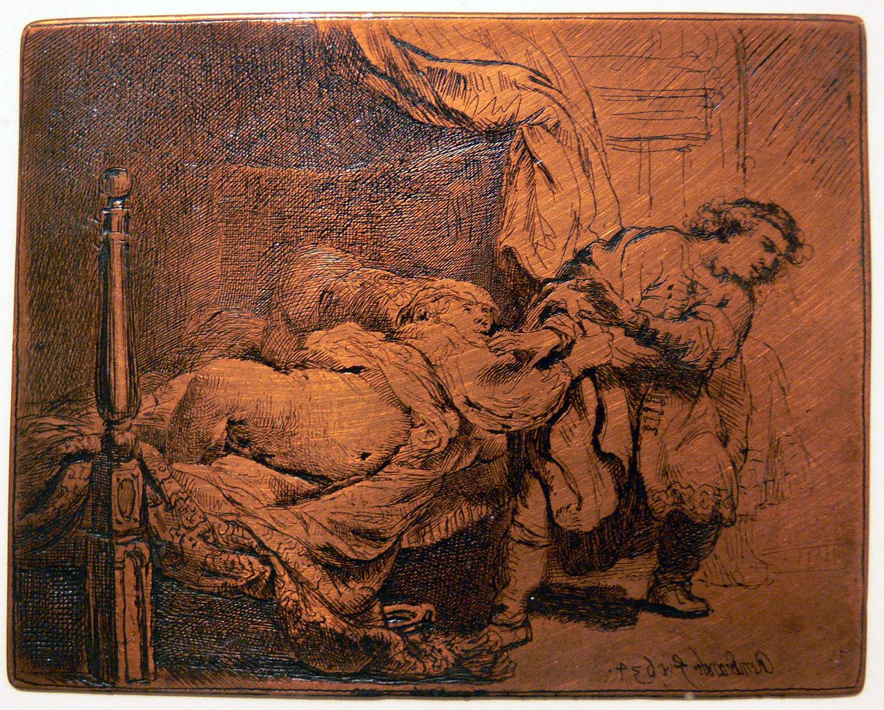 Оригинальная медная пластина, Рембрандт