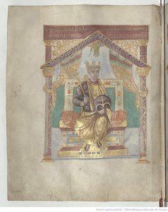 Карл Лысый смотрит на св. Иеронима, fol. 3v