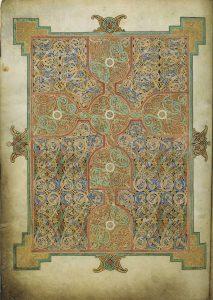 Lindisfarne evangeliarium, tapijtbladzijde op f26v, Matteüsevangelie