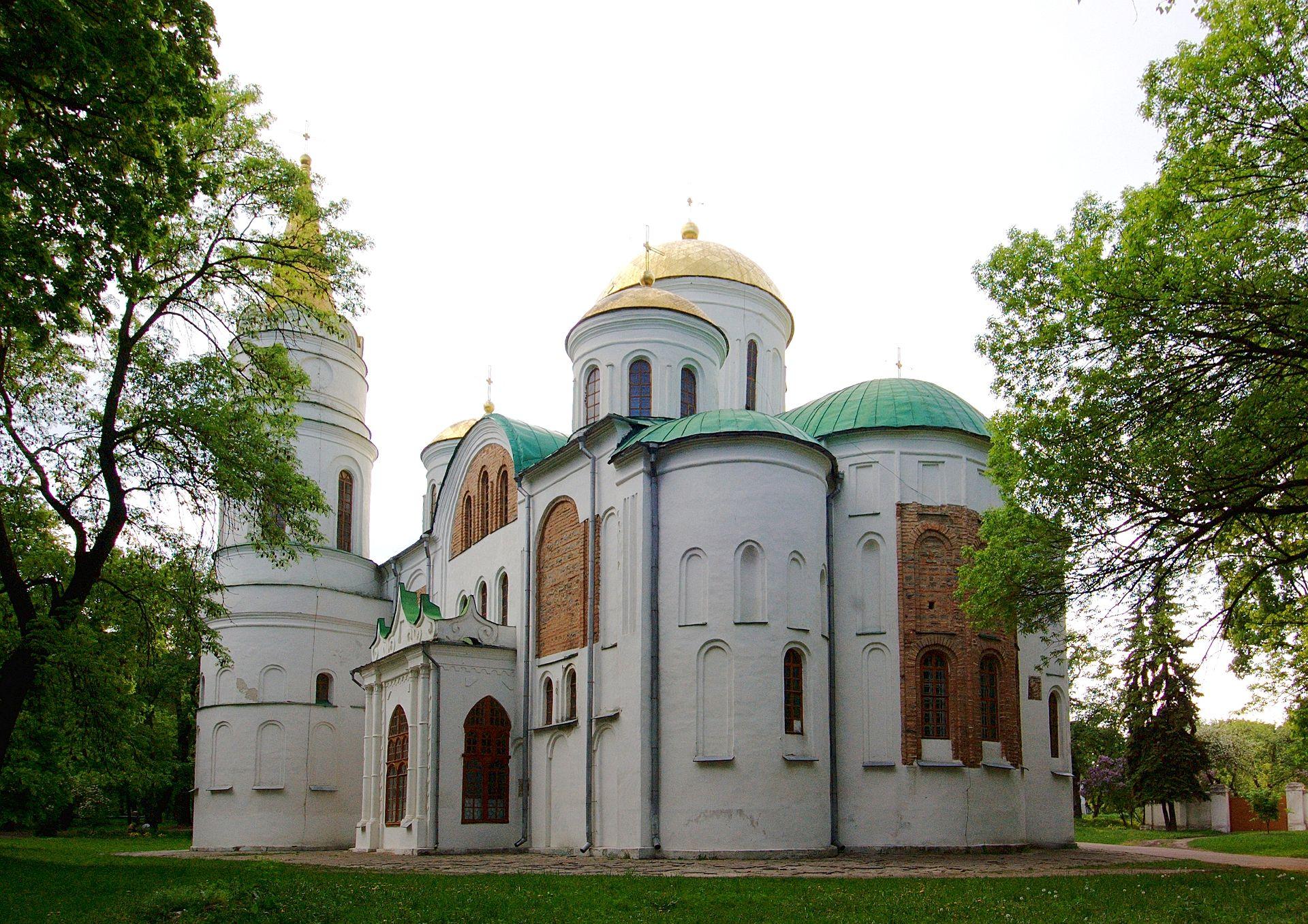 Спасо-Преображенский собор Чернигова. Вид с юго-востока.