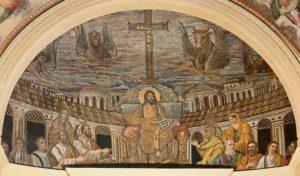 Санта Пуденциана Христос на троне в окружении апостолов Апсида