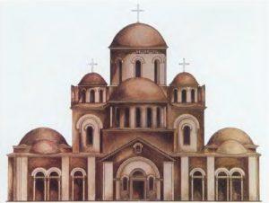Церковь Богоматери (Десятинная) в Киеве. 989-996. Реконструкция