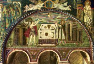 Сан Витале Жертвоприношение Авеля и Мельхиседека