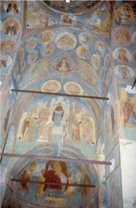 Собор Рождества Богородицы Ферапонтова монастыря. Роспись 1502 г. Вид на восточную часть