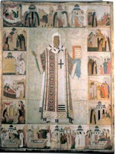Круг Дионисия. Митрополит Алексей, с житием. Конец XV в. ГТГ