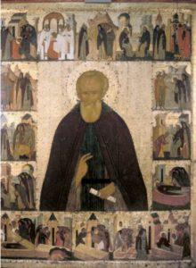 Дионисий. Преподобный Димитрий Прилуцкий, с житием. Около 1503 г. Вологодский музей