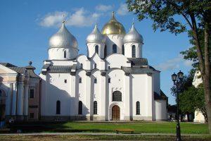 Вид на Софийский собор в Новгороде