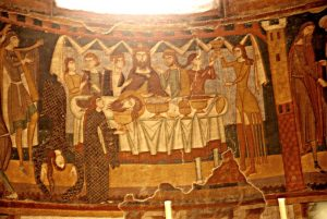 Танец Саломеи на ужине Ирода Антипы. Монастырь Святого Иоанна, Мюстаир