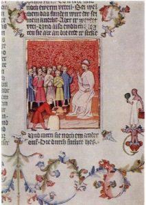 Библия Вацлава IV. Фрагмент. Конец XIV века