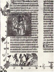 Бревиарий Яна из Стржеды. Фрагмент. До 1360 года
