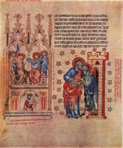 Пассионарий аббатисы Кунгуты. Фрагмент. 1313—1321