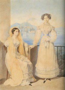 К. Брюллов. Долли с сестрой в Неаполе.