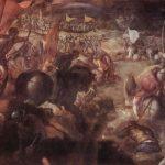 Тинторетто, Якопо Битва при Таро 1578-1579 270 x 422 см Холст, масло Мюнхен. Старая Пинакотека Цикл батальных полотен, заказчик: герцог Мантуанский