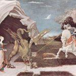 Учелло, Паоло Битва св. Георгия с драконом Около 1456 57 x 73 см Холст, масло Лондон. Национальная галерея