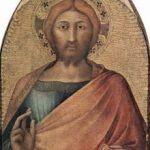 Мартини, Симонe Благословляющий Христос Около 1317 76 x 46 см Дерево, темпера Неаполь. Национальная галерея Каподимонте Предположительно часть алтаря