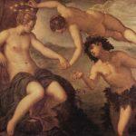 Тинторетто, Якопо Вакх и Ариадна 1578 146 x 157 см Холст, масло Венеция. Дворец Дожей Из цикла картин для зала Антиколлегии Дворца дожей в Венеции