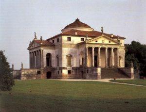 А. Палладио. Вилла Альмерико-Вальмарана («Ла Ротонда» или «Капра») в Виченце. 1551—1567, достроена Винченцо Скамоцци. Фасад.