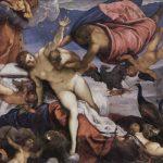 Тинторетто, Якопо Возникновение Млечного пути Около 1575 148 x 165 см Холст, масло Лондон. Национальная галерея Заказчик: император Рудольф II