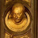 Гиберти, Лоренцо Врата рая. Барельеф головы Витторио, сына Лоренцо Гиберти 1425 Флоренция. Баптистерий