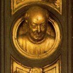 Гиберти, Лоренцо Врата рая. Барельеф головы Лоренцо Гиберти 1425 Флоренция. Баптистерий