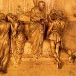 Гиберти, Лоренцо Врата рая. Исаак посылает Исава на охоту 1425 Флоренция. Баптистерий