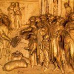 Гиберти, Лоренцо Врата рая. Обнаружение посланными Иосифа золотой чаши у Вениамина 1425 Флоренция. Баптистерий