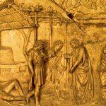 Гиберти, Лоренцо Врата рая. Опьянение Ноя 1425 Флоренция. Баптистерий