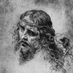 Леонардо да Винчи Голова Христа в терновом венце Около 1500 92 х 116 мм Серебряный штифт на бумаге Венеция. Галерея Академии