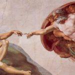 Микеланджело Буонаротти Фрески плафона Сикстинской капеллы. История творения. Господь сотворяет Адама 1508-1512 Фреска Рим. Ватикан, Сикстинская капелла Заказчик: папа Юлий II