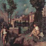 Джорджоне Гроза Около 1507-1508 82 x 73 см Холст Венеция. Галерея Академии