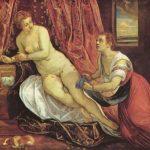 Тинторетто, Якопо Даная Вторая половина 16 века Холст, масло Лион. Музей изящных искусств