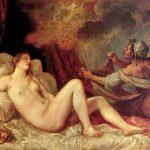 Тициан Вечелио Даная 1553-1554 128 x 178 см Холст, масло Мадрид. Прадо Заказчик: Филипп II Испанский, из цикла картин на поэтические темы для испанского короля, 1553-1562
