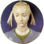 Роббиа, Лукка делла Женский портрет в тондо 1465 Диаметр: 54 см Эмалированная терракота Флоренция. Национальный музей Барджелло