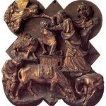 Брунеллески, Филиппо Жертвоприношение Исаака 1401-1402 45 x 38 см Бронза, позолота Флоренция. Национальный музей Барджелло