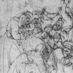 Донателло Избиение младенцев в Вифлееме, фрагмент Первая половина 15 века Перо Ренн. Музей изящных искусств, Кабинет рисунков