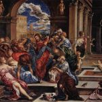 Эль Греко Изгнание торгующих из храма До 1570 65 x 83 см Холст, масло Вашингтон (округ Колумбия). Национальная галерея